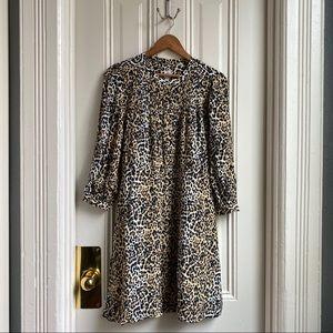GAP Cheetah Print Button Down Shirtdress